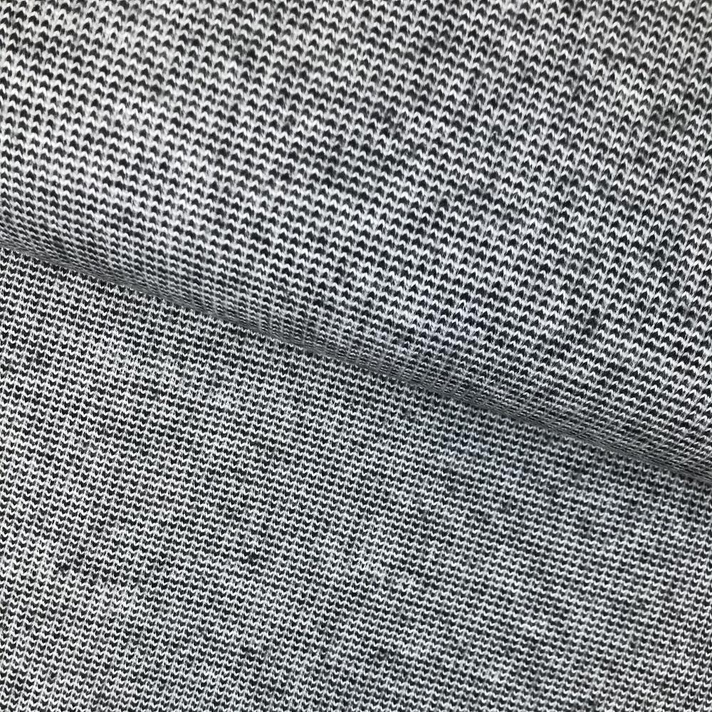 Strick Jacquard aus recycelter Baumwolle, schwarz. Art. 08138.001
