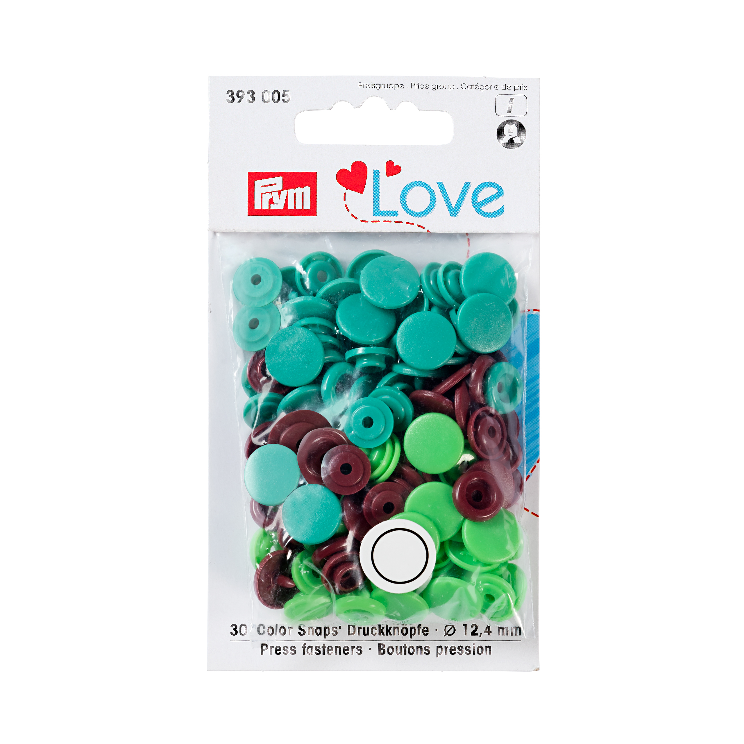 "Druckknopfe Color Snaps, grün, ""Prym-Love"", Prym - Art. 393005"