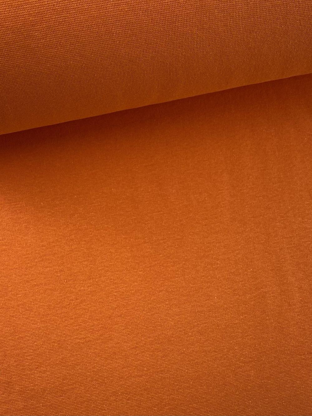 Bündchenware (glatt), orange. Art. SW10624