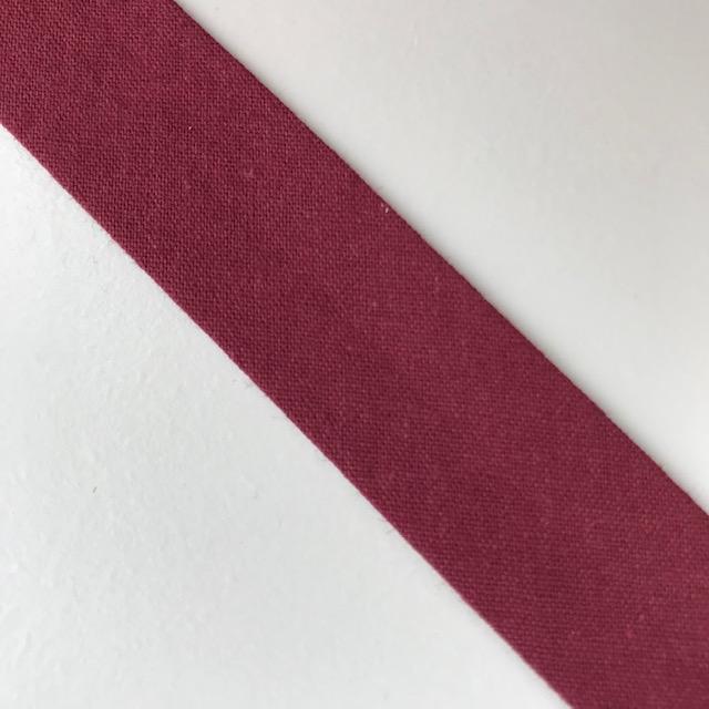 Baumwollpopeline - Schrägband, dunkelrot. Art. SW11647
