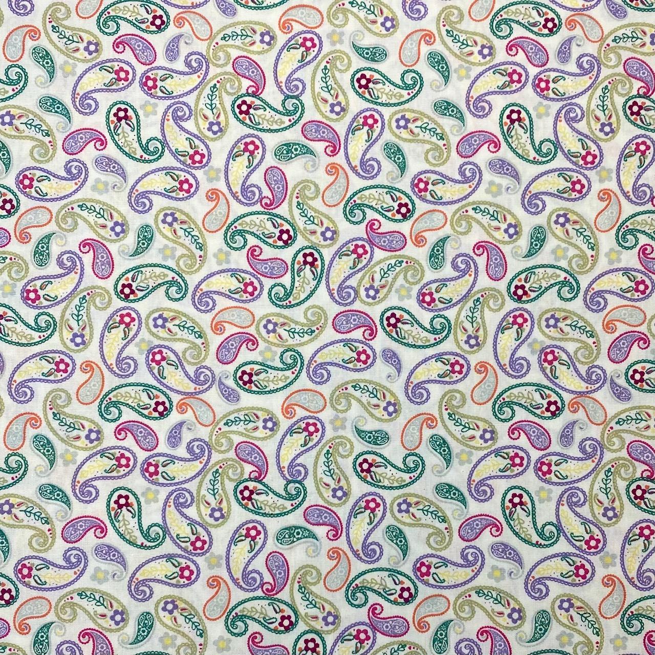 Baumwollpopeline, Paisley. Art. SW11384