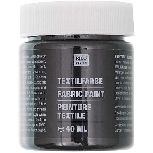 Textilfarbe, schwarz, 40 ml, Rico Design. Art. 7014.519