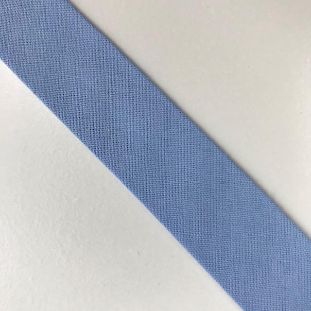 Baumwollpopeline - Schrägband, himmelblau. Art. SW11660