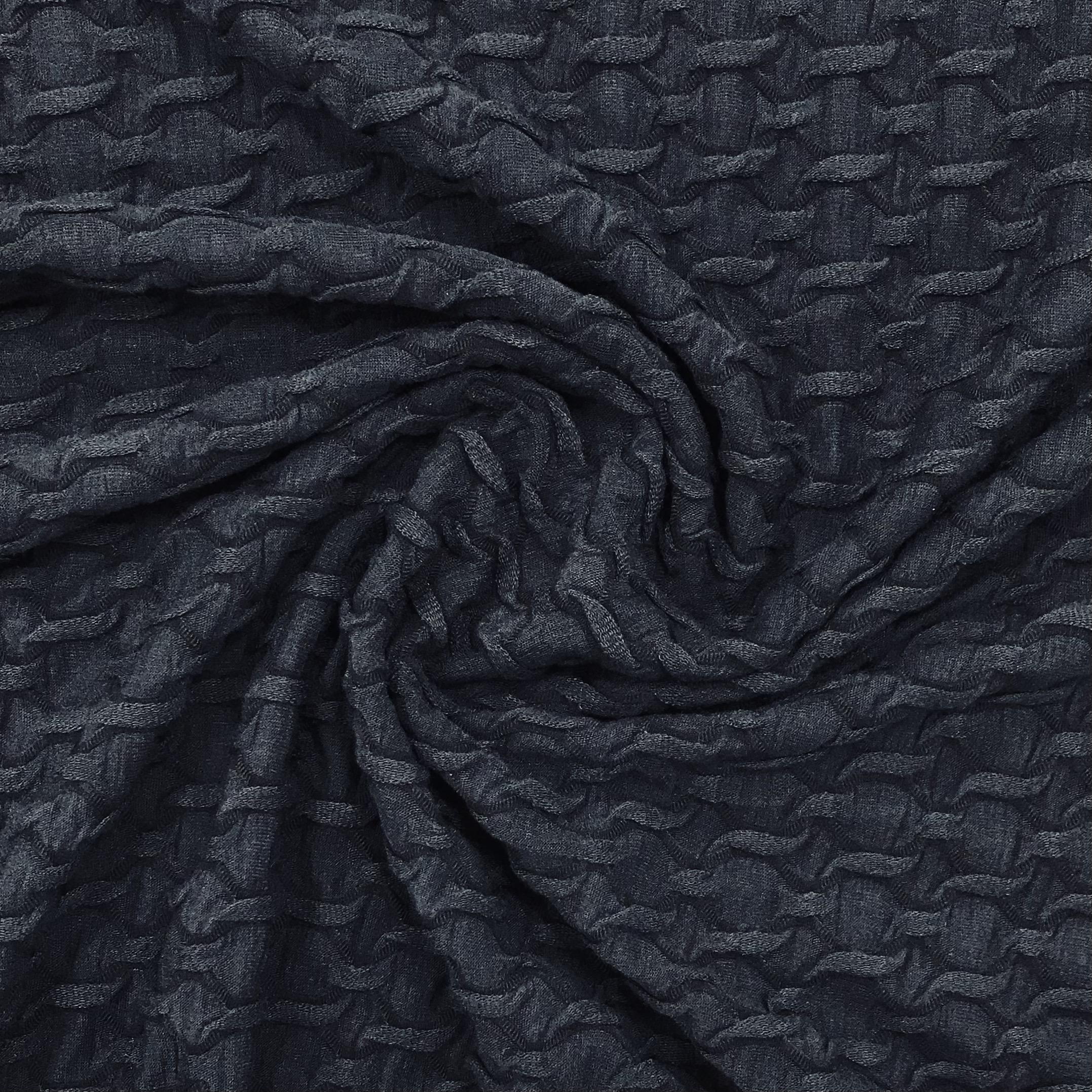 Jacquard High Low, dunkelblau. Art. Q11211-008