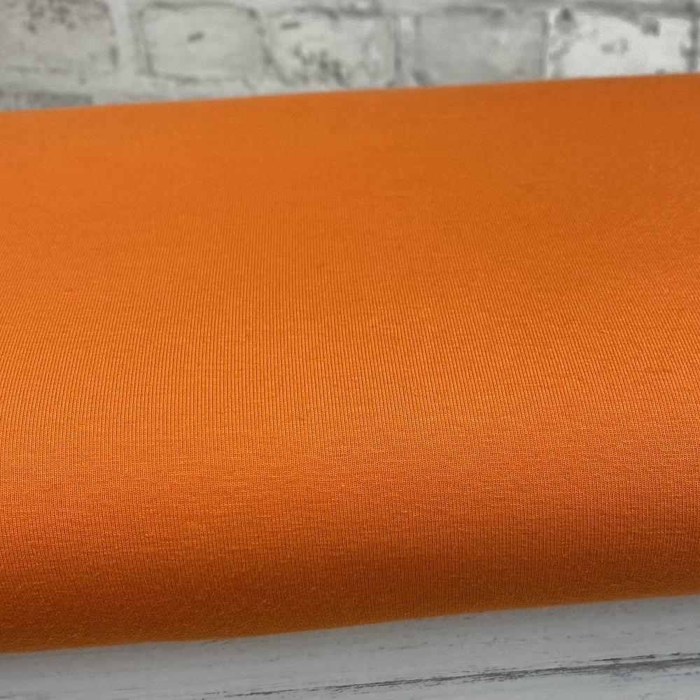 Baumwolljersey, uni, orange. Art. 8973/38