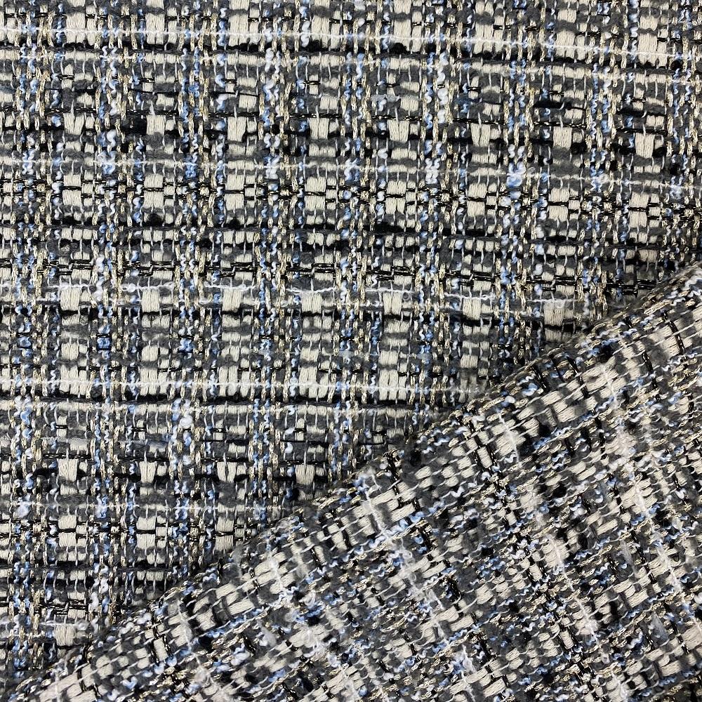 Bouclé Stoff Tweed, hellgrau. Art. SW11198