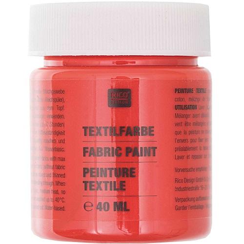 Textilfarbe, brillant rot, 40 ml, Rico Design. Art. 7014.503