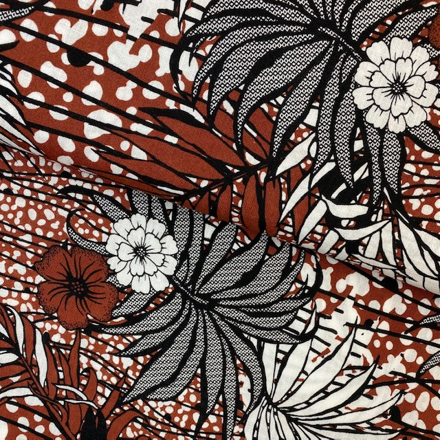 Viskose Crêpe, rost.  Art. PC1702-057