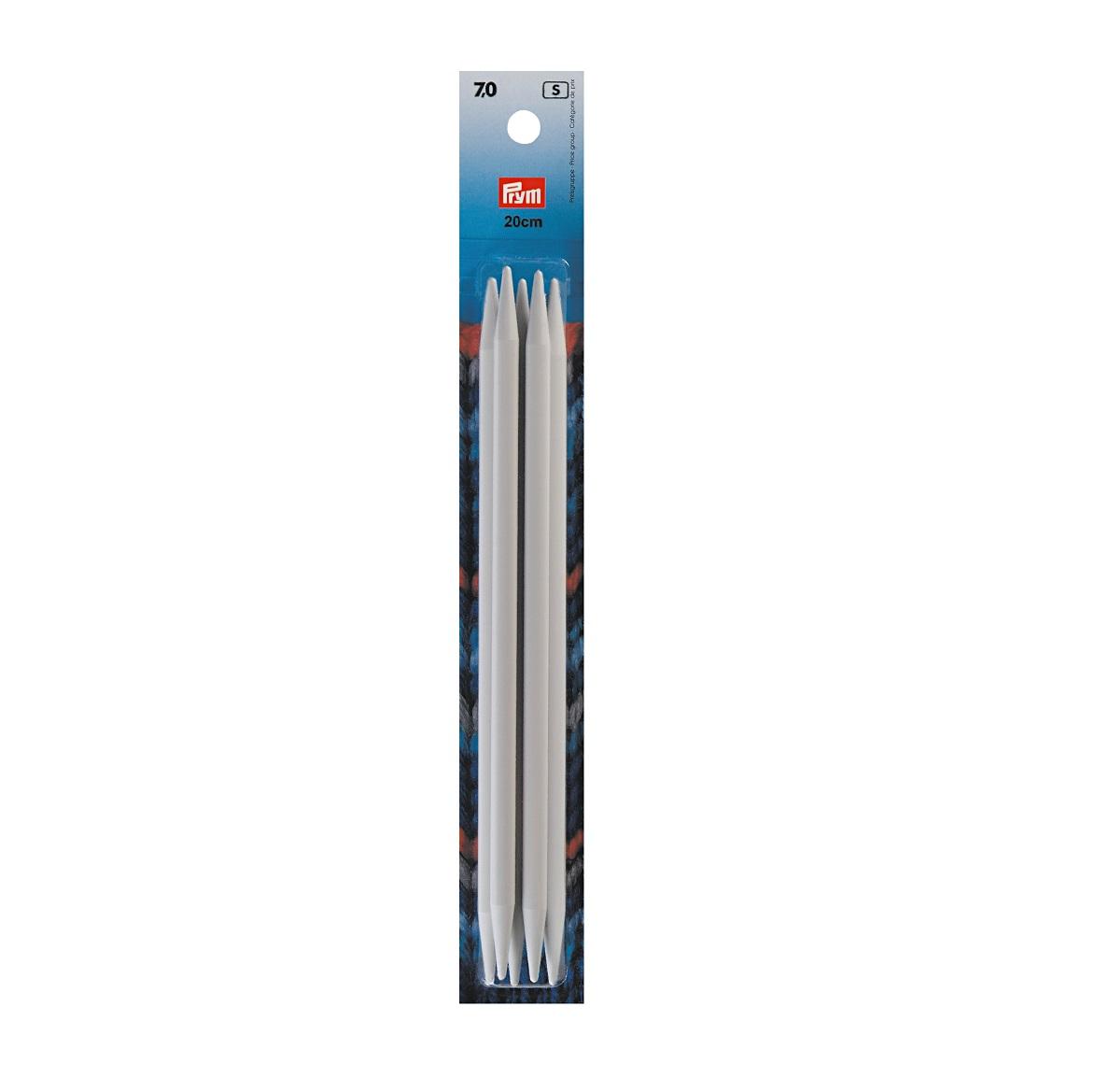 Strumpfstricknadeln, metall, 20 cm, 7,00 mm. Prym 218645