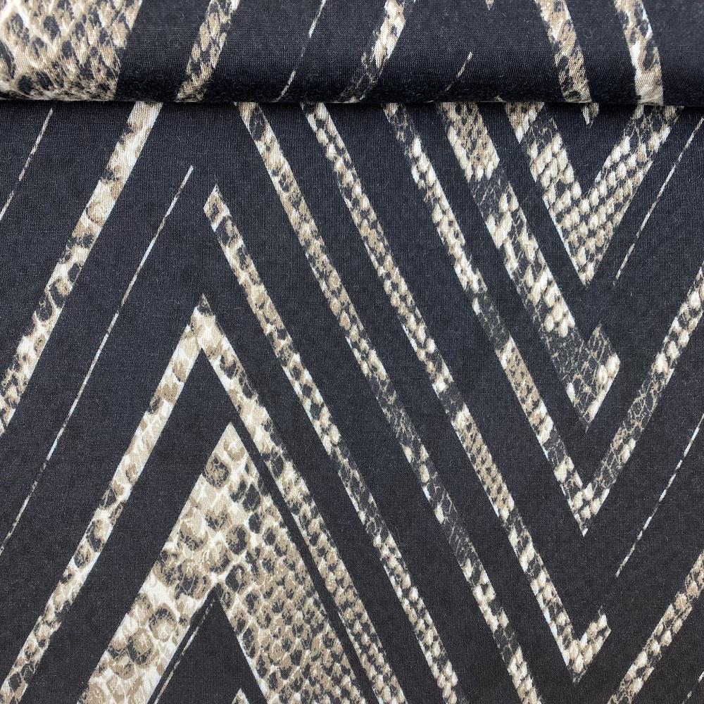 Leichter Baumwolljersey mit Zacken-Muster, Design-Linie. Art. G-9191-96