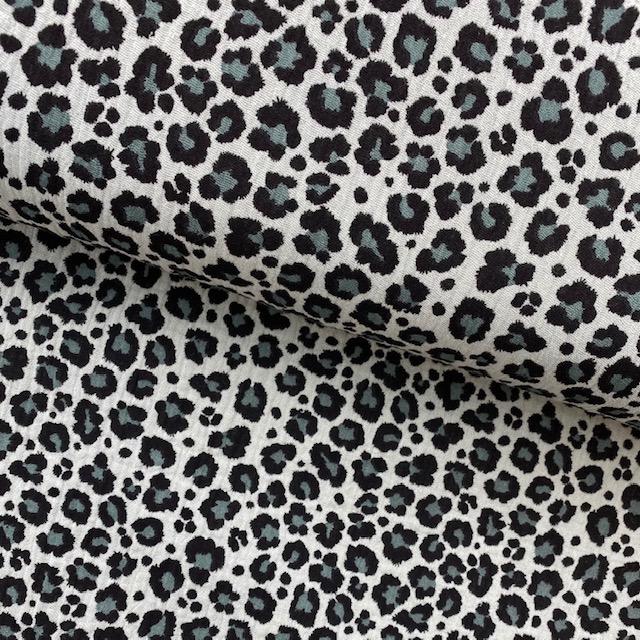 Musselin, Panther, nebelgrün. Art. 8387-023