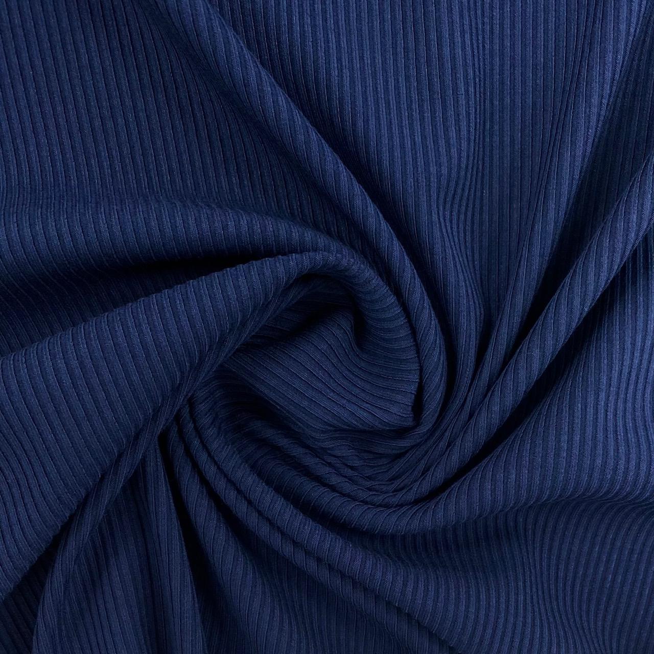 Feiner Rippenstrick Uni, dunkelblau. Art. 4722.06