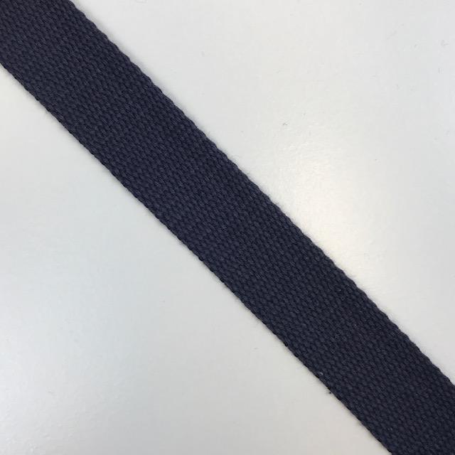 Baumwollgurtband  25 mm,  Union Knopf, dunkelblau. Art. SW11620