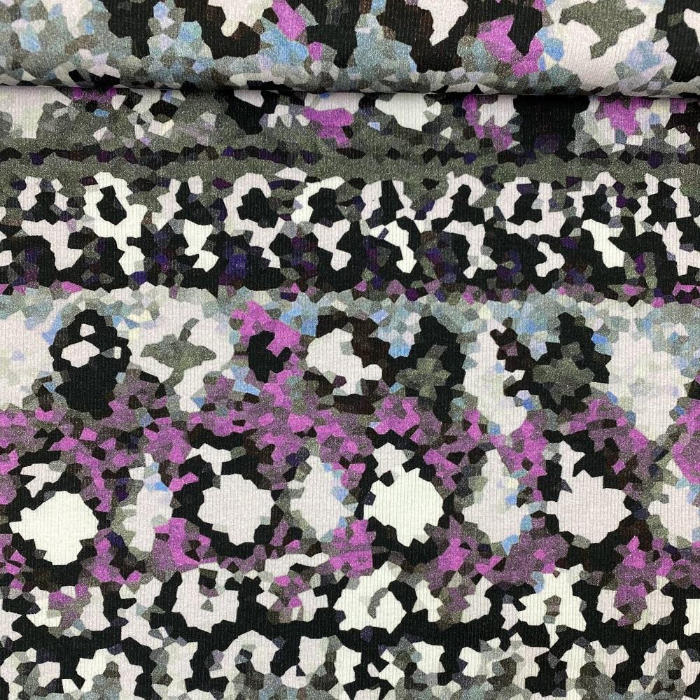Rippenjersey, Digital Druck, Design-Linie. Art. J-1240-732