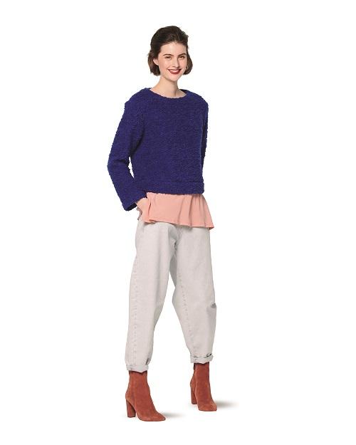 Pullover mit rundem Halsausschnitt #6168