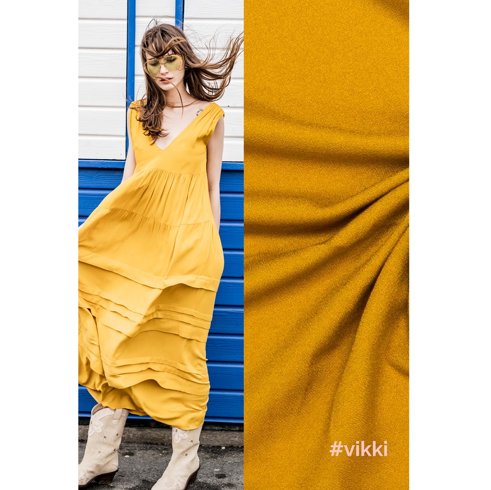 Fibre Mood #Vikki, Viskose crepe, Golden price. Art. FM798999