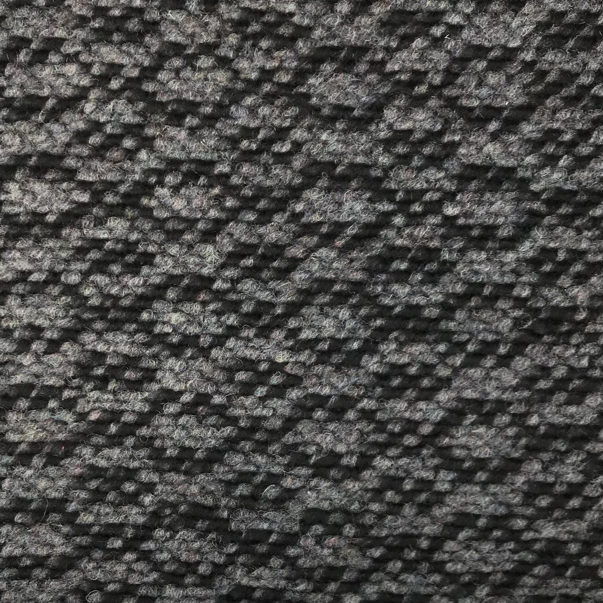 Strick-Bouclé Wollmix, grau/schwarz. Art. 182800