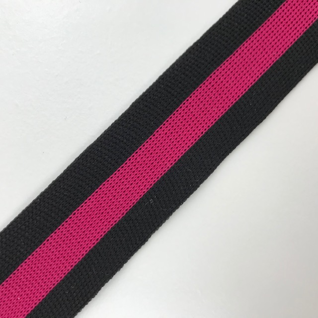 Galonband, Streifen, schwarz/fuchsia. Art. SW11684