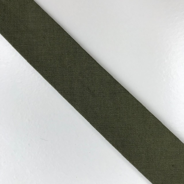 Baumwollpopeline - Schrägband, olivgrün. Art. SW11663