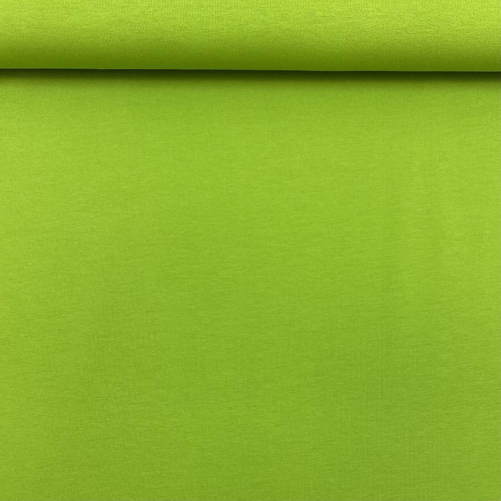 French Terry/Sommersweat, unangeraut, apfelgrün, uni. Art. 8985/23