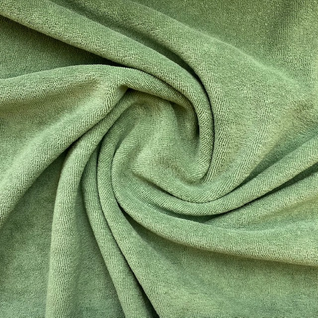 Frottee-Stretch, old green. Art. 02551.025