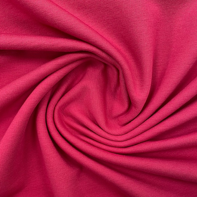 French Terry/Sommersweat, fuchsia, uni. Art. 0196-017