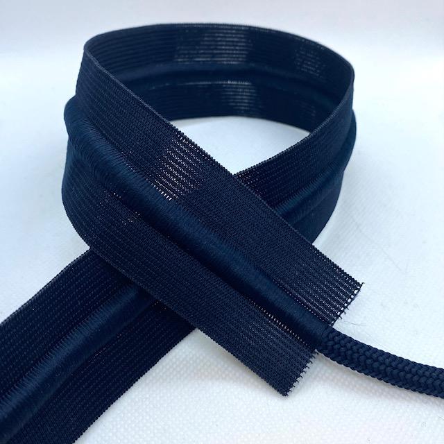 Gummiband 40mm, mit Kordel blau. Art. 691038-68