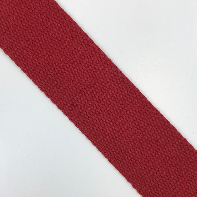Baumwollgurtband 40 mm, Union Knopf, rot. Art. SW11631