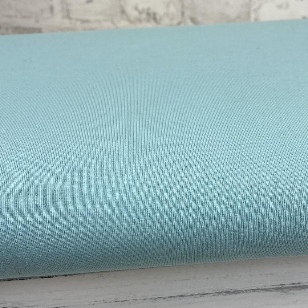 Baumwolljersey, uni, helles mint. Art. 8973/1203