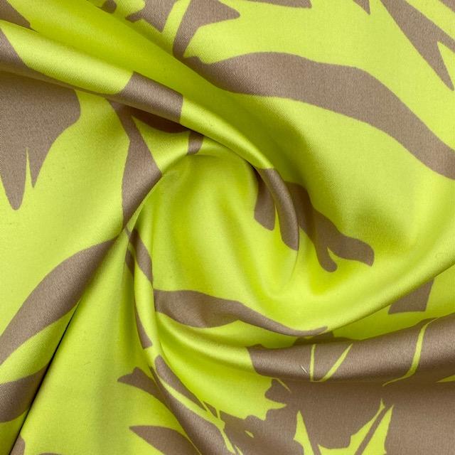 Viskose Satin, beige/gelb. Art. 8510-384
