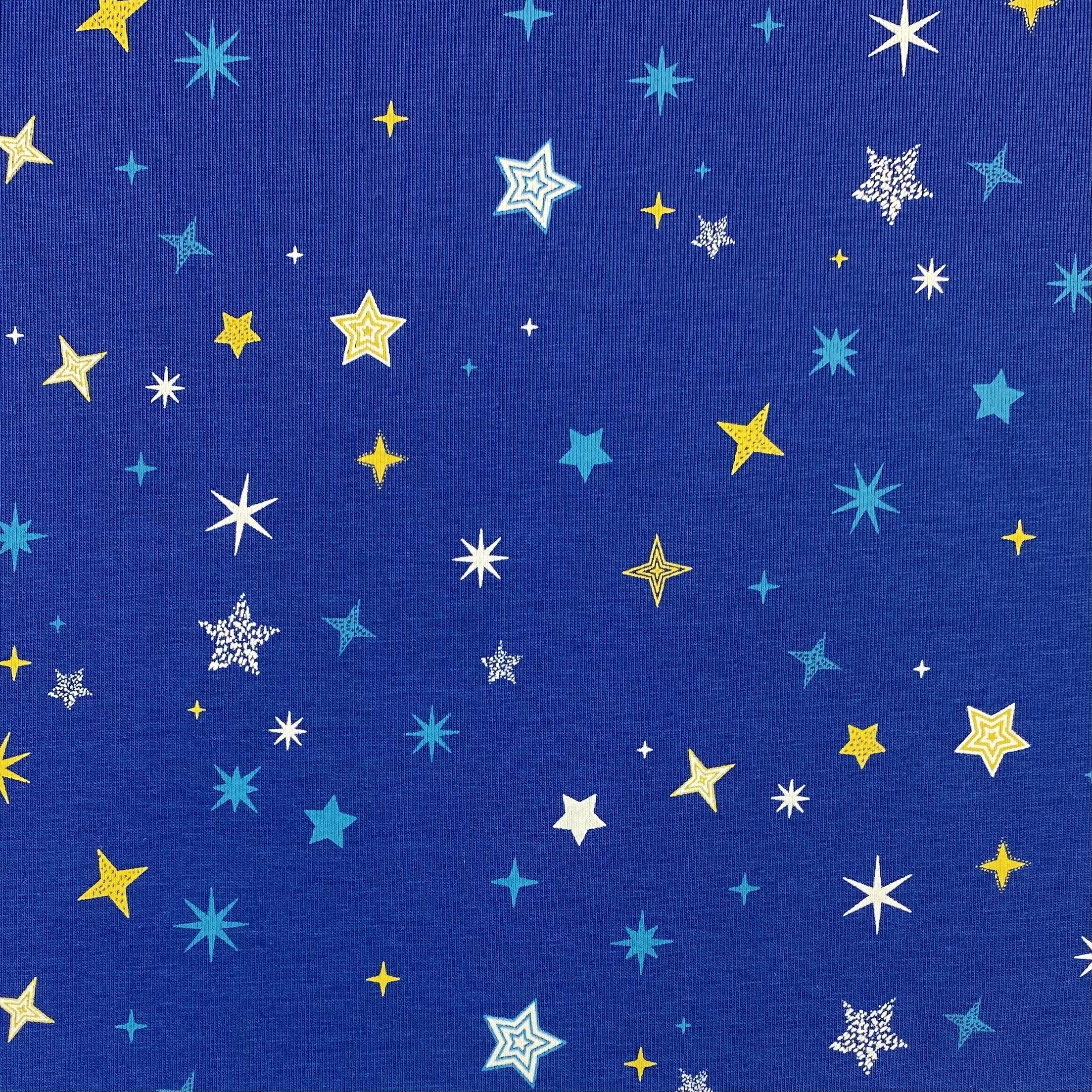 Baumwolljersey, bunte Sterne. Art. KC1449-107