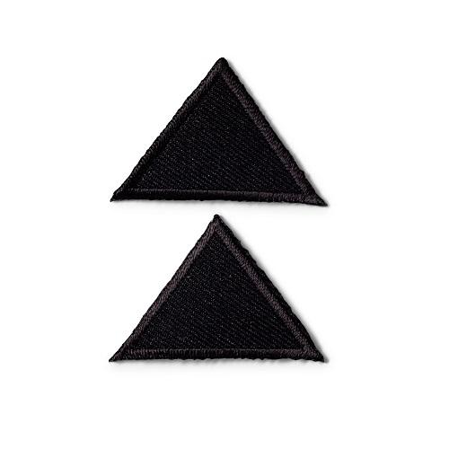 Applikation Dreiecke, klein, schwarz, Art. 925275