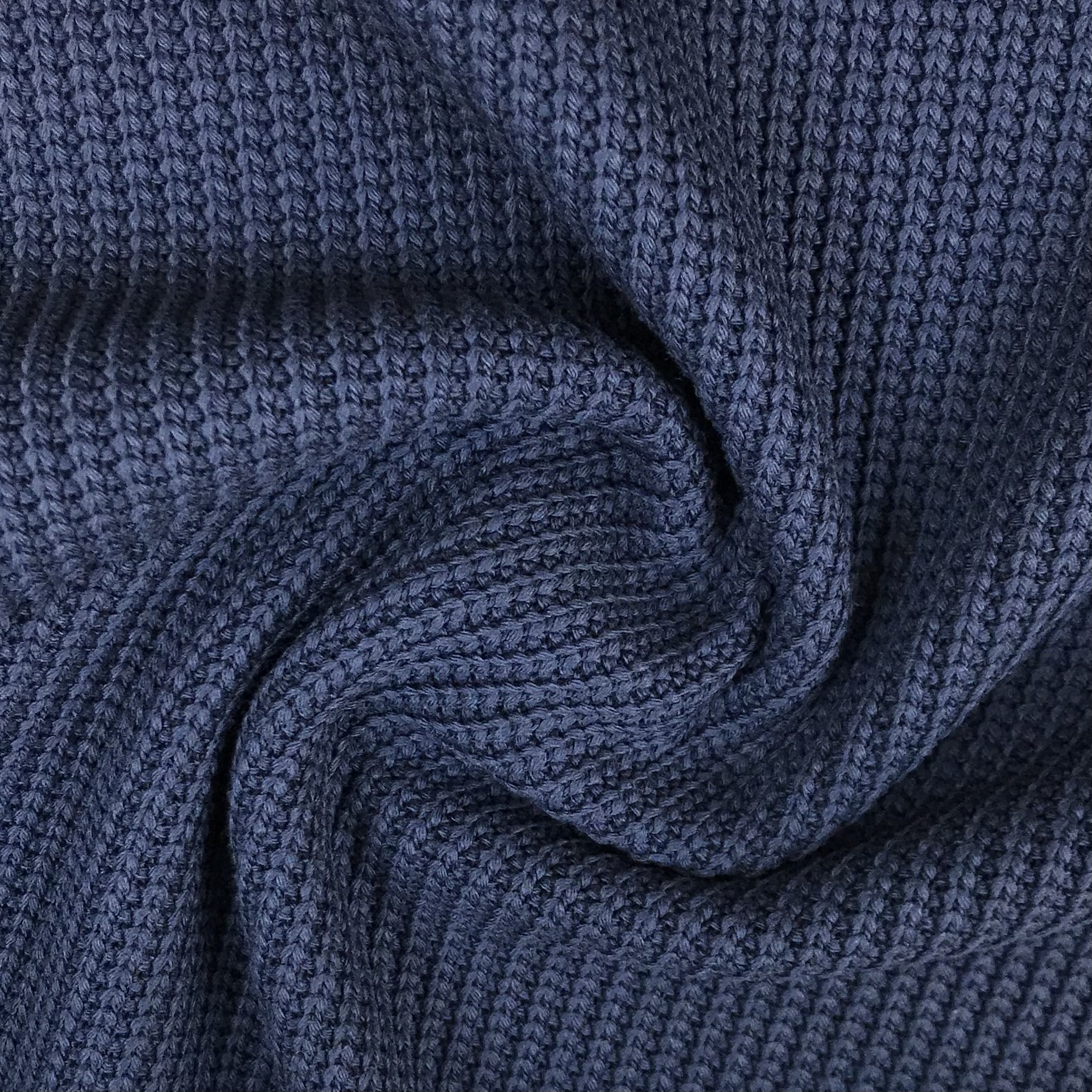 Grobstrick Baumwolle, dunkelblau. Art. 4453-008